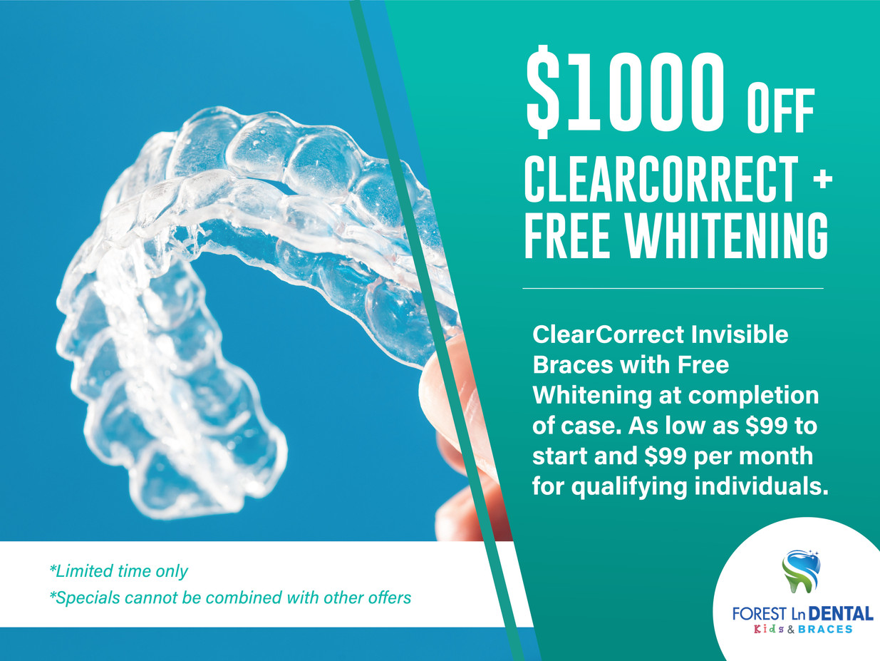 Forest Lane Dental_$1000 OFF Clearcorrect + Free Whithening