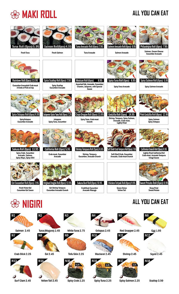 Sakura Sushi & Grill_Menu
