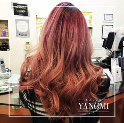 Magenta and pastel pink ombre