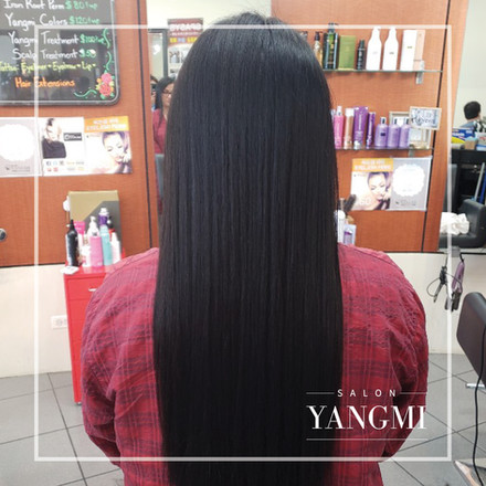 Magic Straight Perm -Salon Yangmi - 9620 N Milwaukee Ave, Niles, IL 60714 / (847) 827-2662