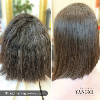 Salon yangmi_straightening before and af