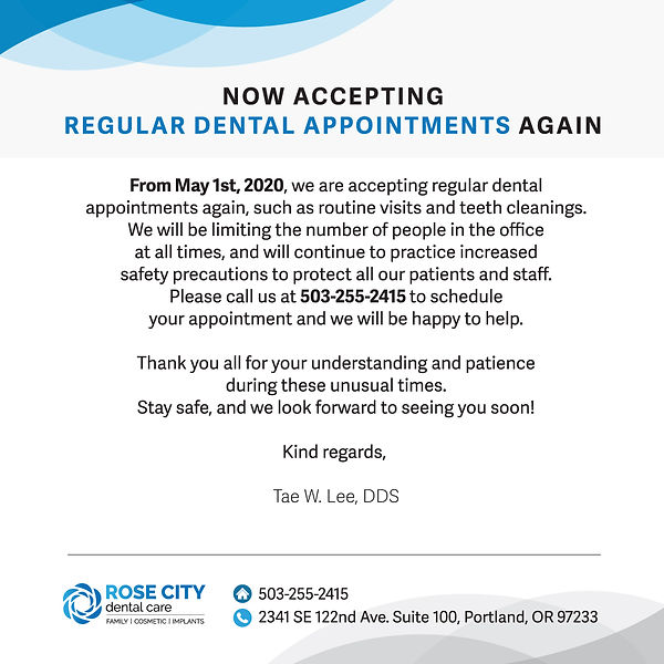 Rose City Dental Care_Regular Appointmen