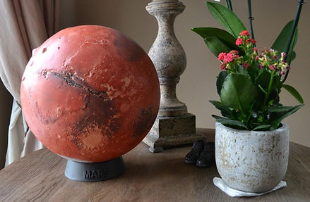 Mars globe rotacast by Mar Globe Maker.j