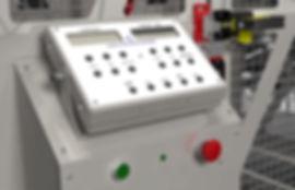 Rotocasting machine control panel