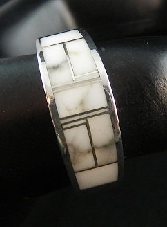 Silver & Wild Horse Magnesite Ring sz 11 1/4
