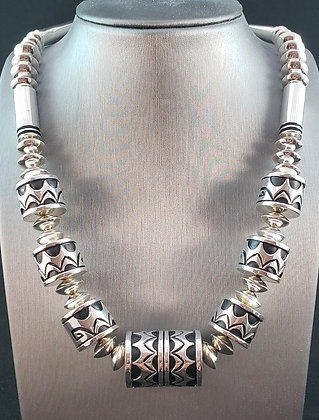 Nelson Begay Barrel Beads Necklace