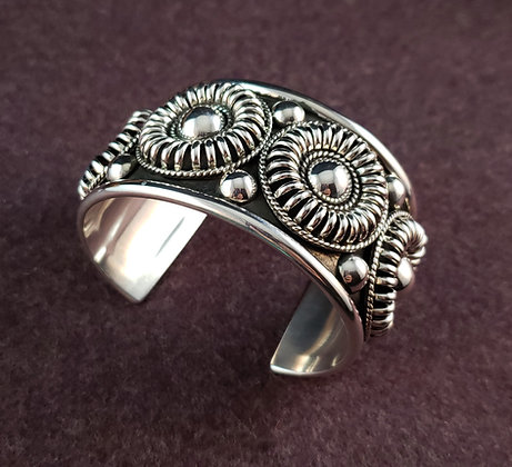 Heavy Sterling Silver Cuff Bracelet by Thomas Charley