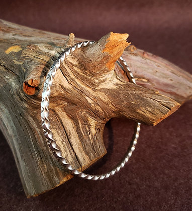Stamped Bangle Bracelet by Elaine Tahe, Navajo