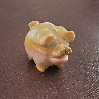 Stanton Hannaweeke Zuni Pig Carving