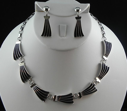 James Bahe Contemporary Necklace & Earring Set