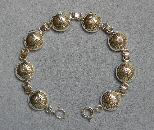 Silver Concho Link Bracelet