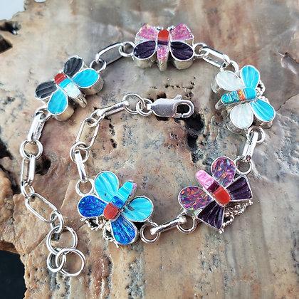 Zuni Butterfly Link Bracelet by Eva Quam