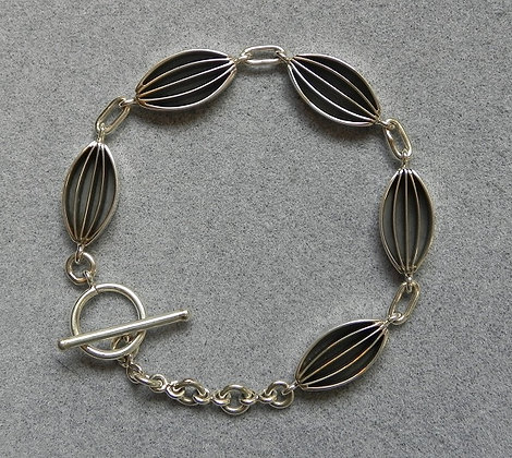 Silver Link Bracelet by James Bahe