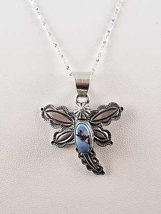 Dragonfly Pendant with Golden Hills Turquoise