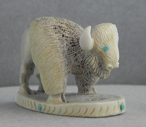 Zuni White Buffalo Fetish Carving