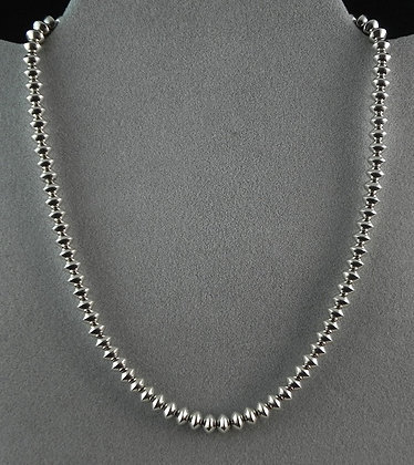 """18"""" Handmade Sterling Silver Beads Necklace by Lola Dawes"""