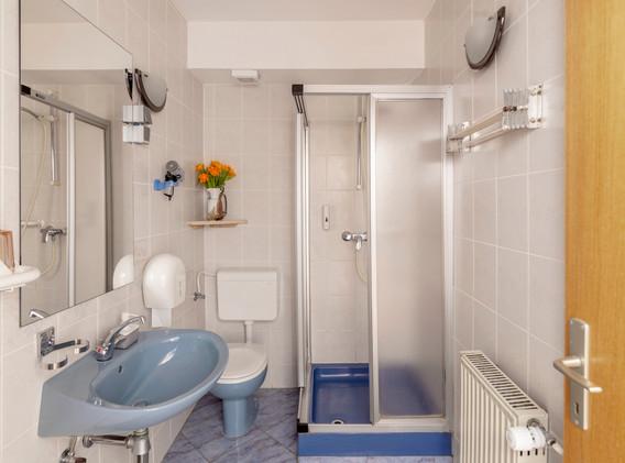 Bathroom in the apartment-studio