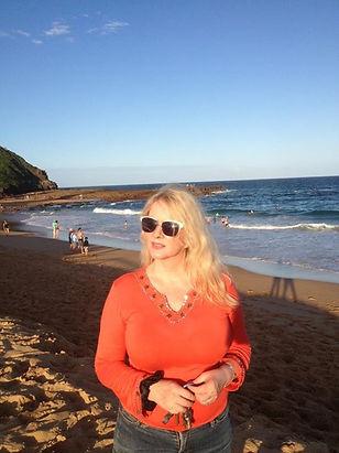 Deborah Gray enjoying day at the beach
