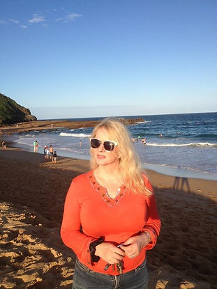 Deborah Gray enjoying day at the beach