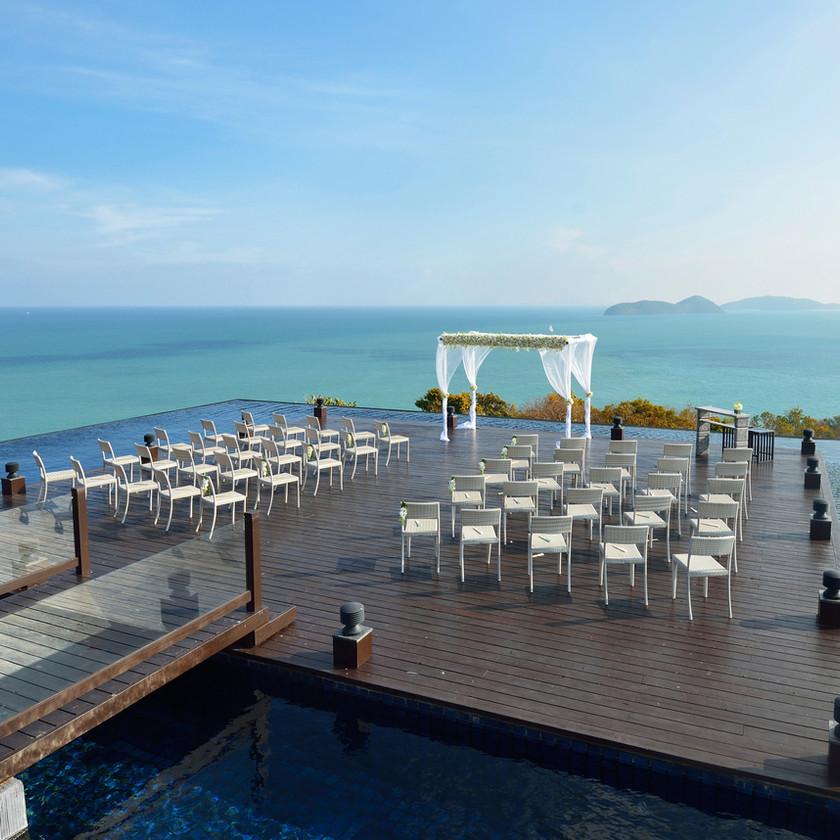 wedding ceremony, water, pier wedding, nature wedding