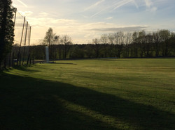 Outfield at dusk