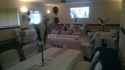 Set up for party