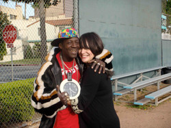 Flavor Flav and Betsy Hammer