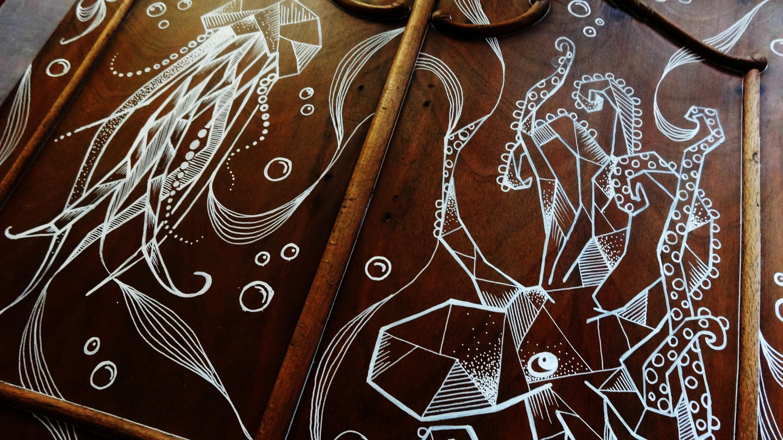 Hand drawn cupboard