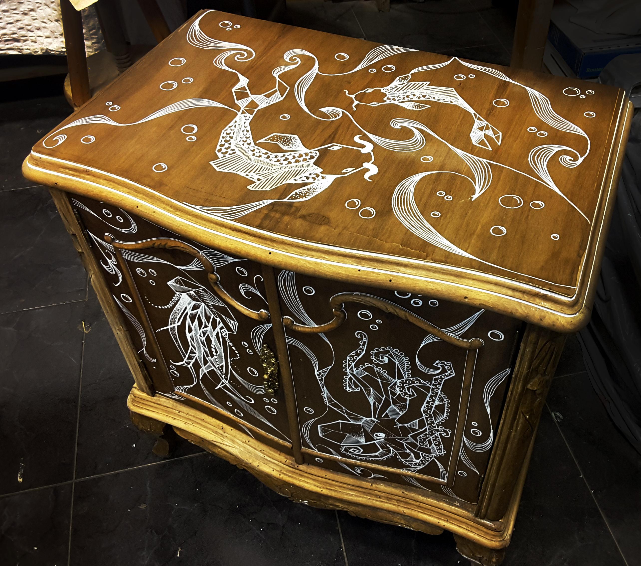 Hand drawn furniture