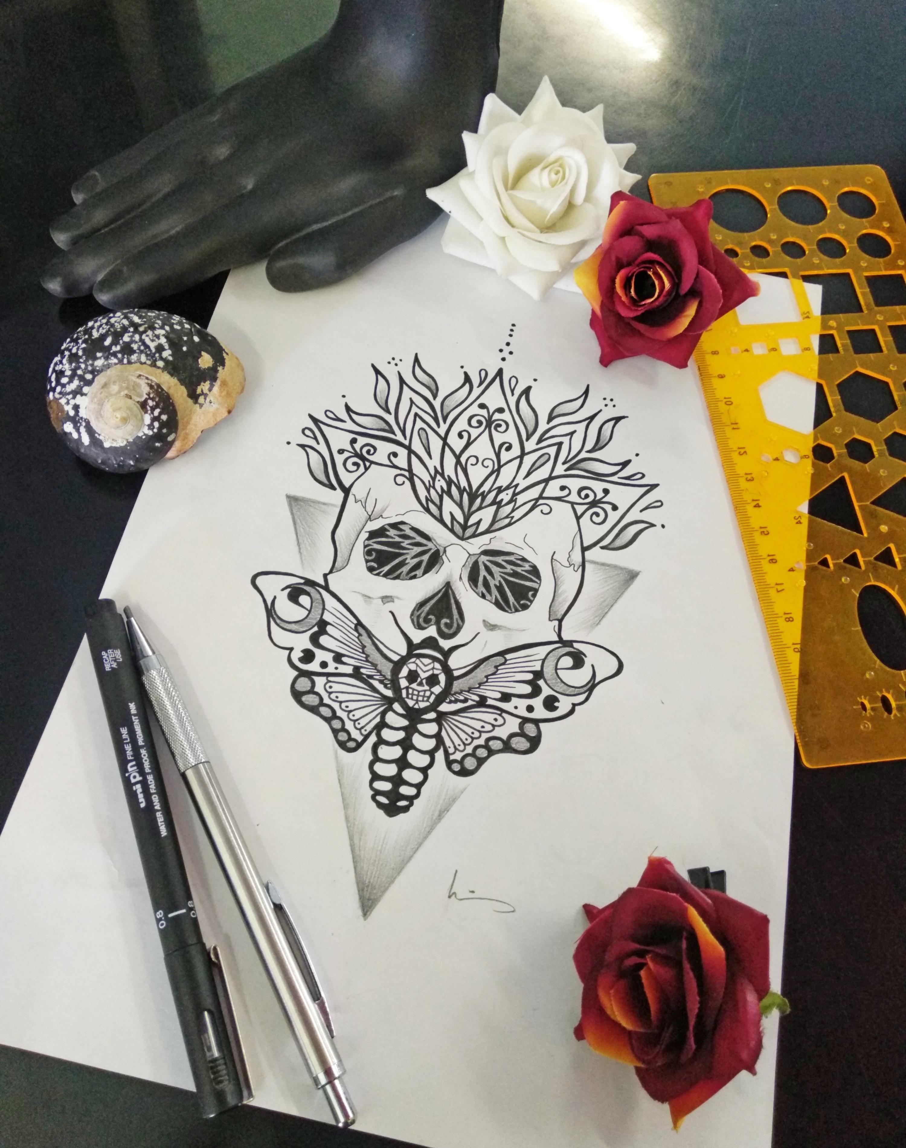 Skull Moth Mandala