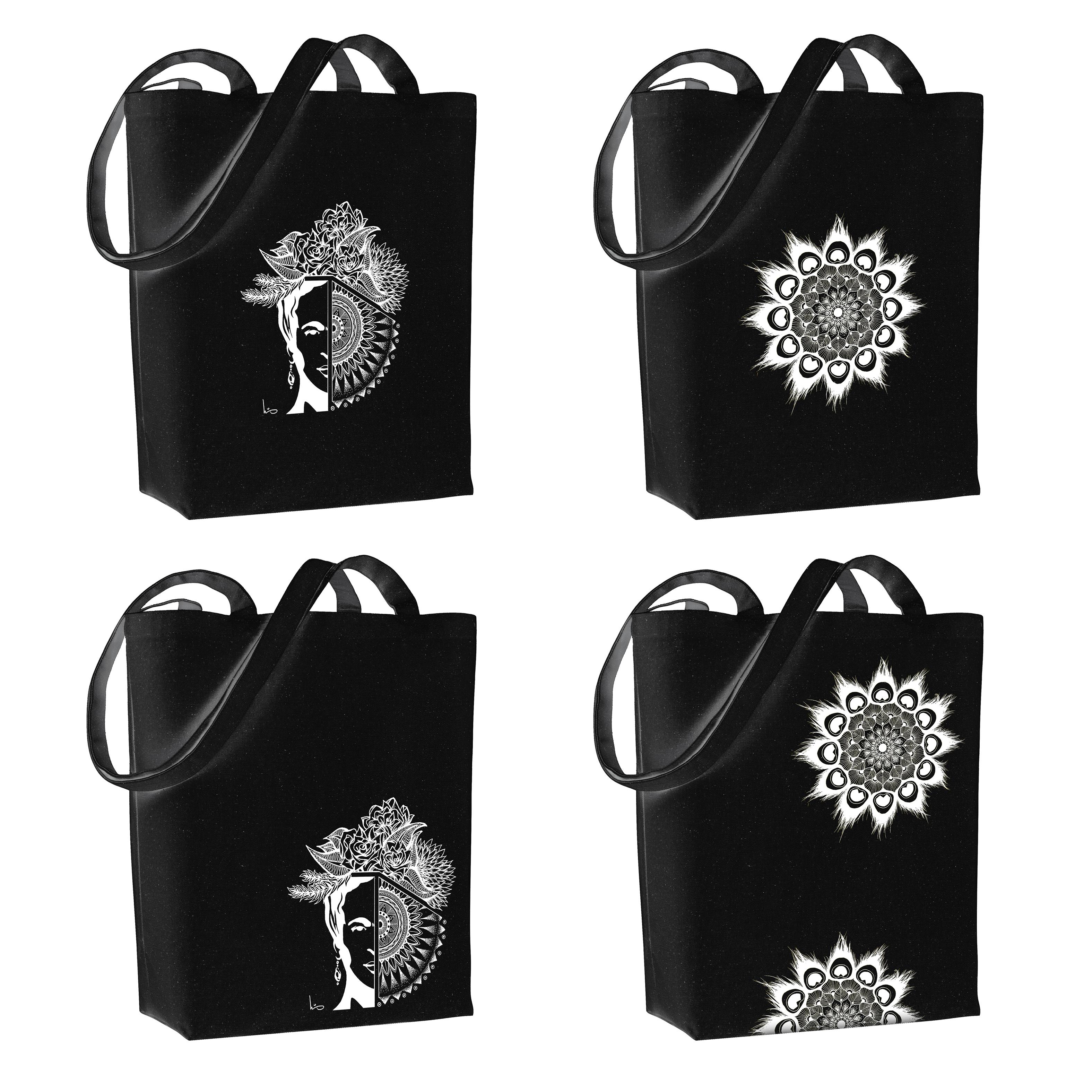 All designs in black