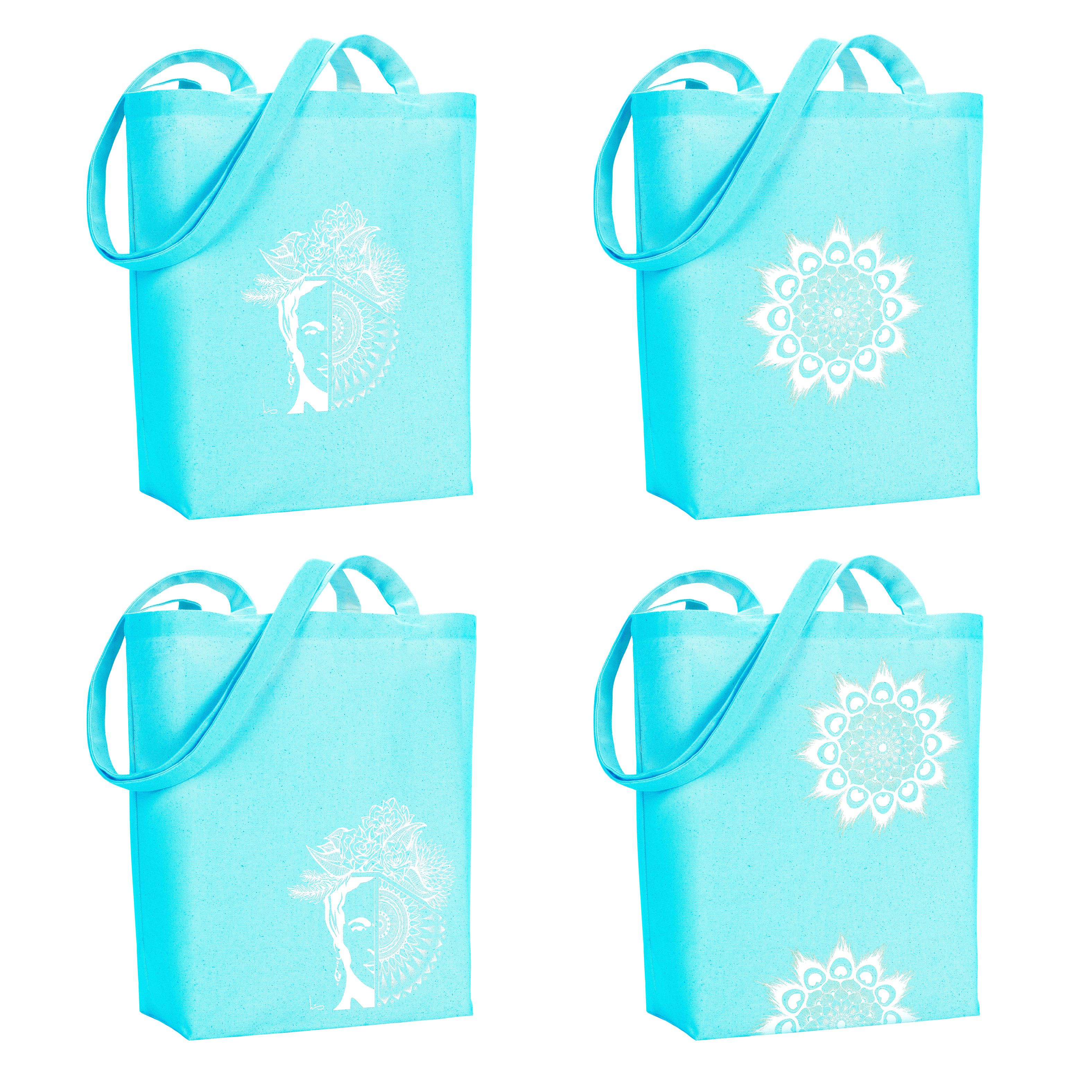All designs in turquoise