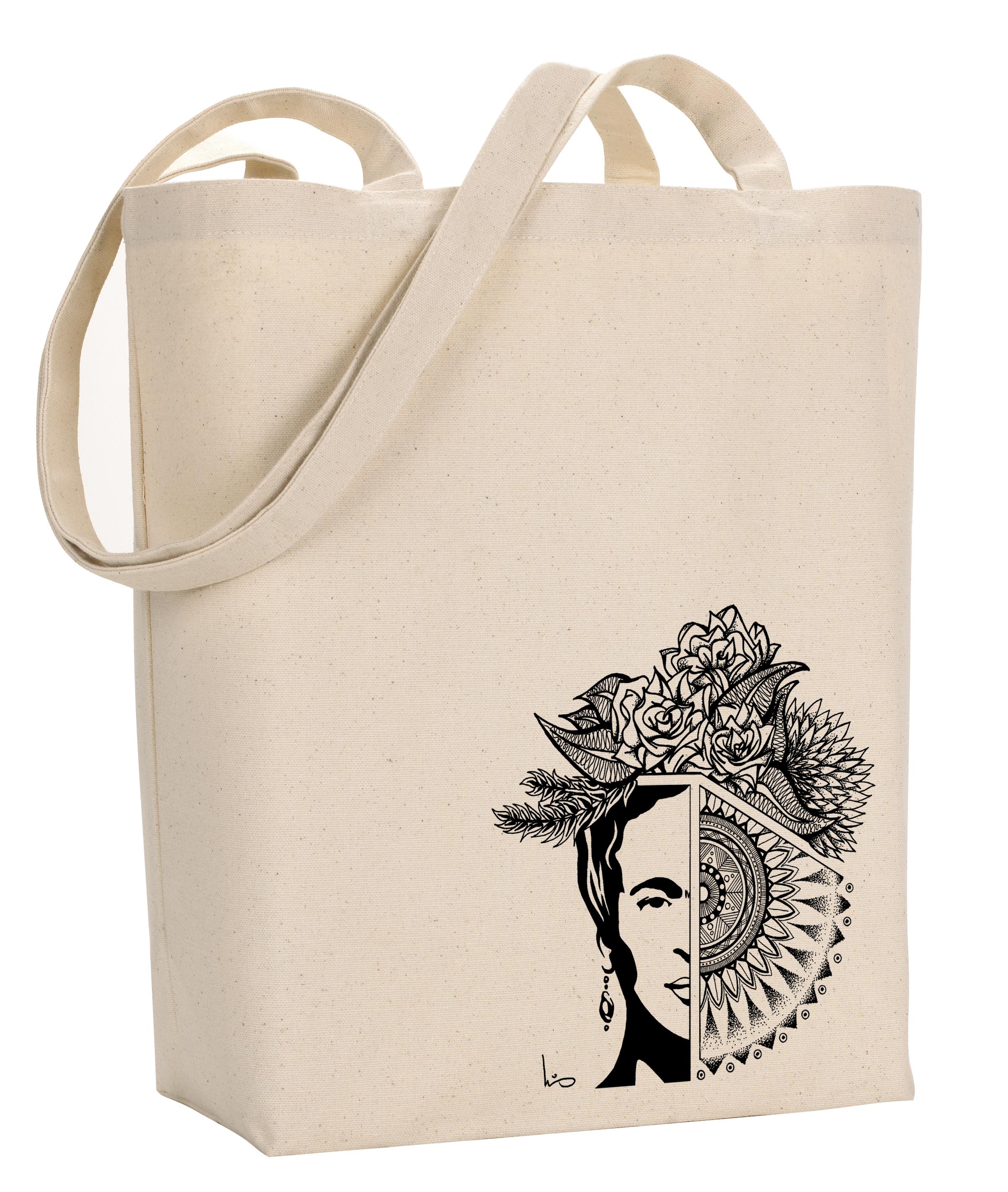 Frida with mandala - Natural