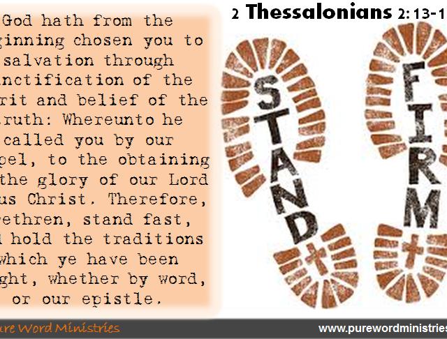 2 Thessalonians 2:13-15