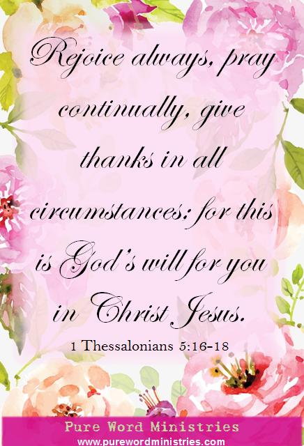 1 Thesselonians 5:16-18