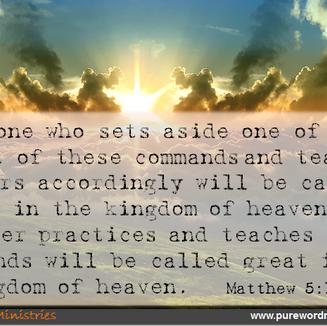 Matthew 5:17-17