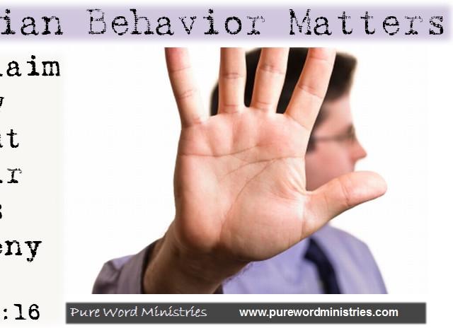 Christian Behavior Matters