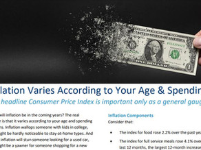 Inflation Varies According to Your Age & Spending