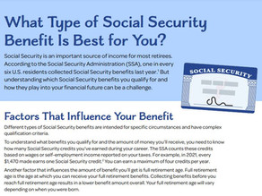 What Type of Social Security Benefit Is Best for You?