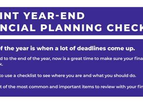 8 POINT YEAR-END FINANCIAL PLANNING CHECKLIST