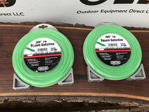"2 X Oregon Trimmer Weedeater Line 1LB ROLLS .105"" Square- 21-405 GATORLINE"