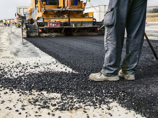 Paving Machines for Carparks, Airport Aprons and Service roads.