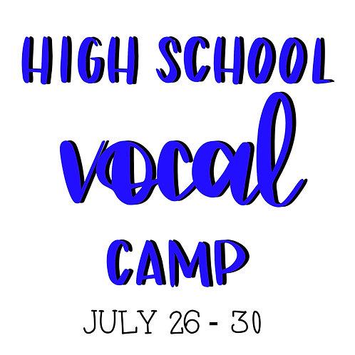 High School Vocal Camp - HALF PAYMENT