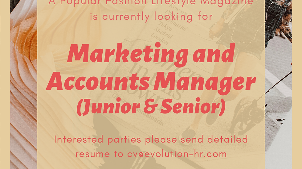 Marketing and Accounts Manager