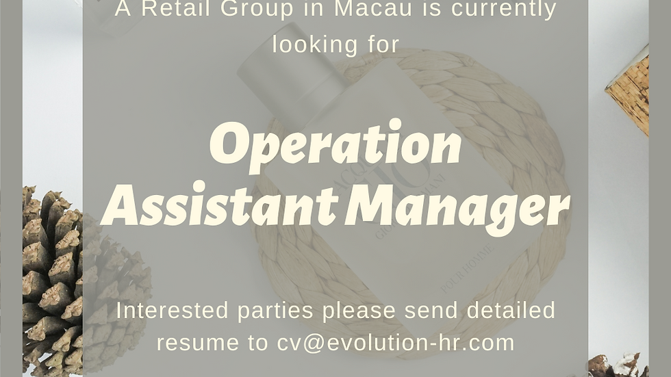 Operation Assistant Manager