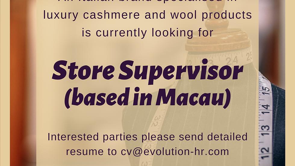 Store Supervisor (Fashion)