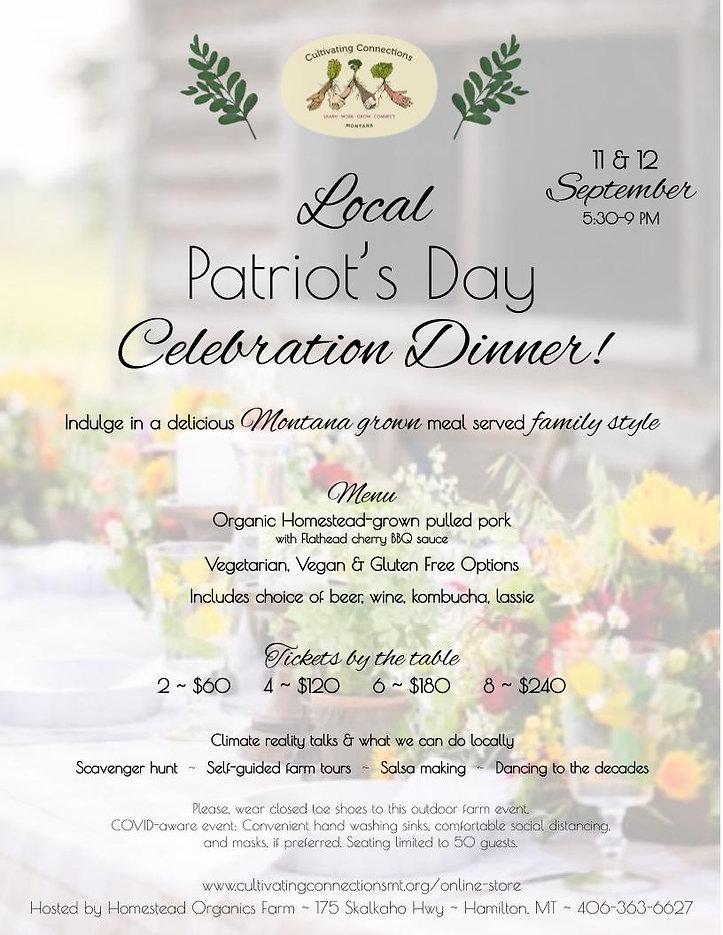 Local Patriot's Day Celebration Dinner