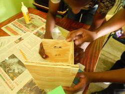 Teams building their nest box(es)