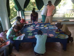 Trainees working on Bird Journals