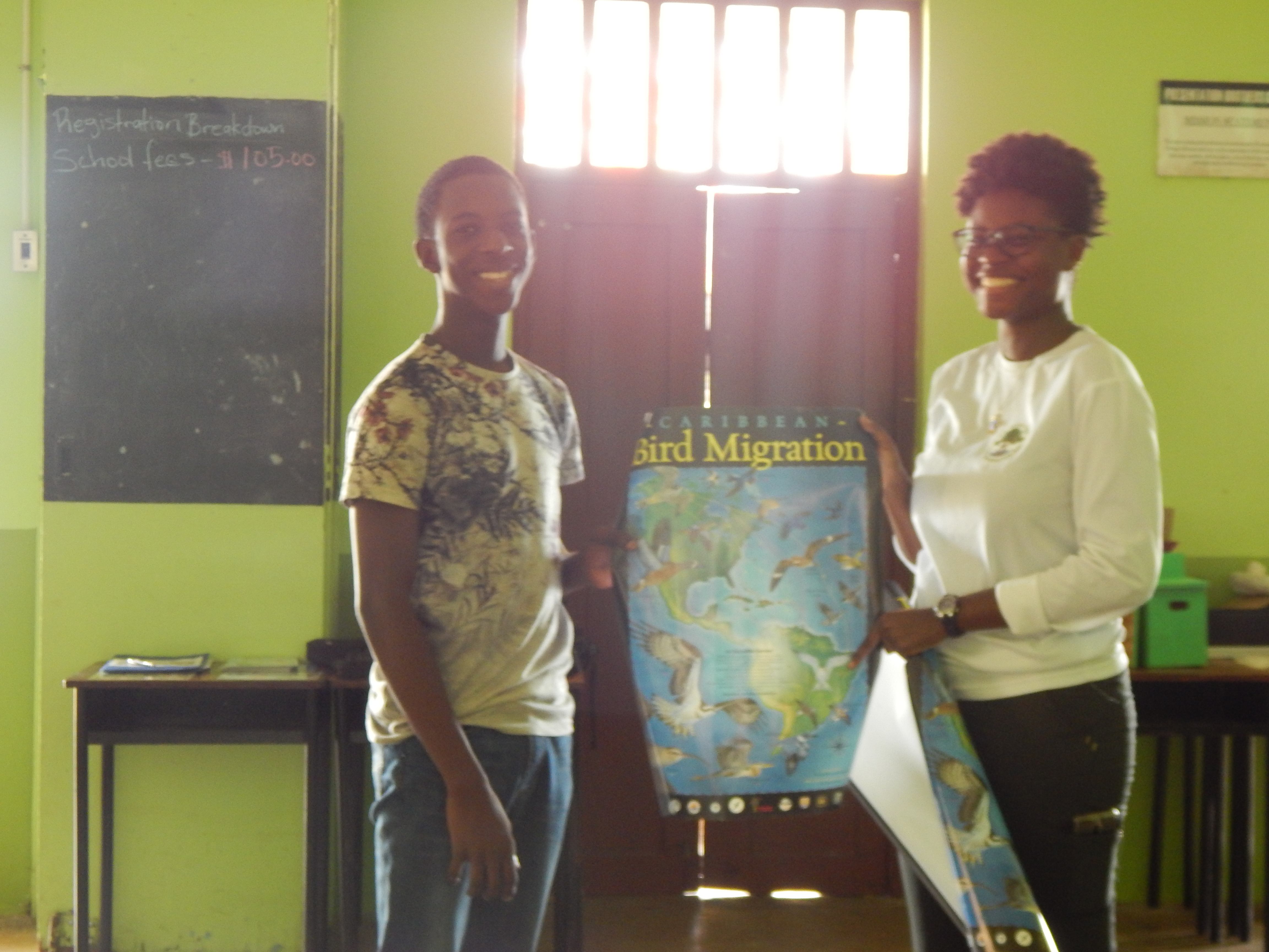 Participant accepting his prize